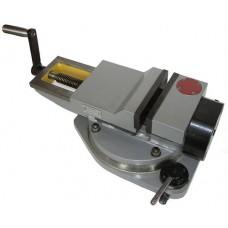 Тиски станочные чугунные поворотные пневматические с гидравлическим усилением  (ширина губок 160-250мм.)